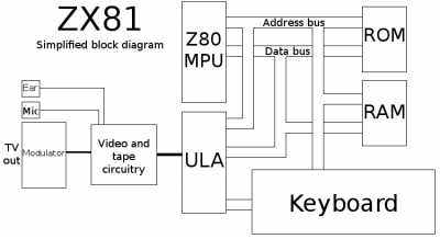 ZX81 Simplified Block Diagram